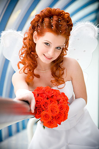 Свадебные платья рыжие волосы